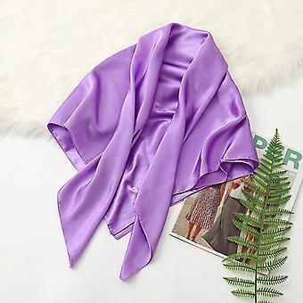 35in Cetim Cabeça lenços vintage quadrado pele sensação de seda de cetim lavanda