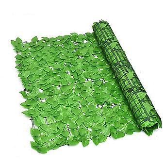 Imitazione di piante Schermo di recinzione per privacy artificiale, recinzione per siepi artificiali e decorazione finta per la decorazione del giardino esterno 1m X 3m, verde chiaro verde