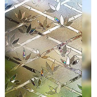 3D Farbe Kristall Anti-UV Leimfreie elektrostatische Glasfolie Badezimmeraufkleber Sonnenschutzaufkleber Balkon Wiederholte Paste ohne Spuren zu hinterlassen (wi