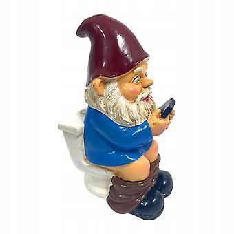 Statue d'un gnome de pelouse - K.