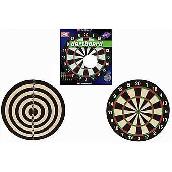 """M.Y 17"""" Dart Board 6 Darts"""