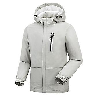 Yunyun Mens Casual Veste à capuche légère Coupe-vent Windproof Résistant à l'eau Sportswear Manteau