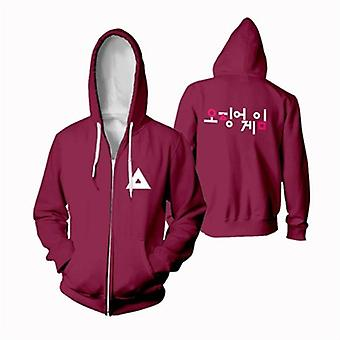 Squid Game Casual Jacket Cotton Fleece Cloth Casual Streetwear Pullovers Squid Game Cosplay Clothing