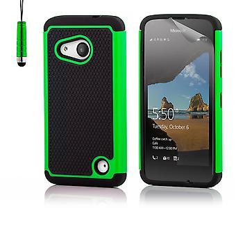 32 ° caso prova di urto + stilo per Microsoft Lumia 550 - verde