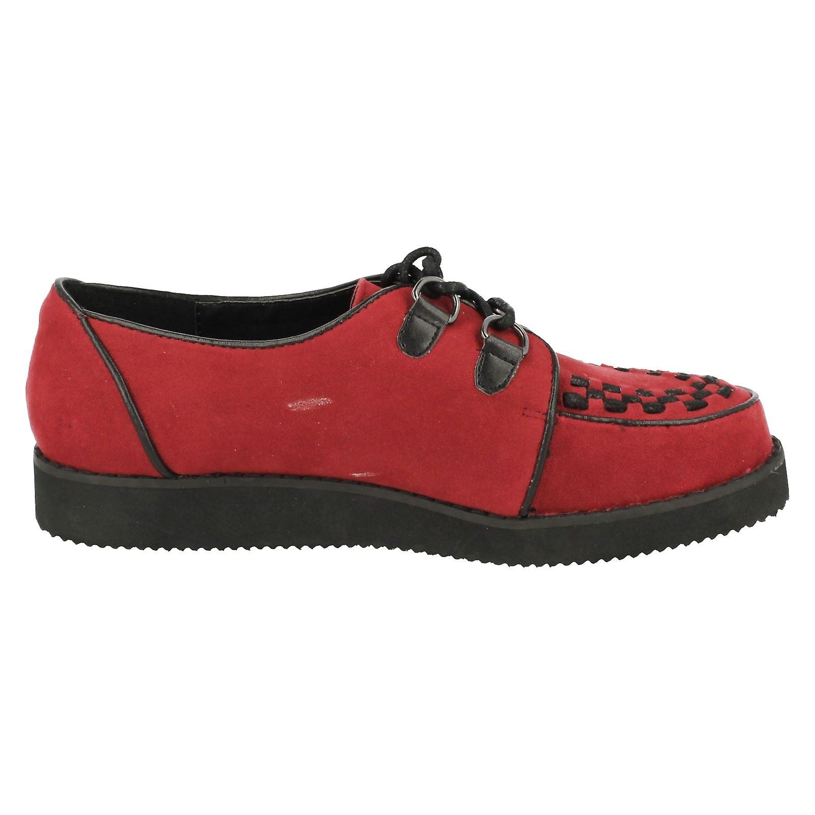 Ladies Spot On Chunky Sole Shoes F9568 bMx96