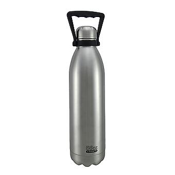 Double Wall Stainless Steel Beer Growler w/Built-In Handle 56 oz.
