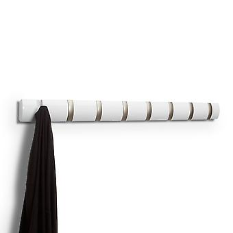 Umbra Flip 8 Coat Hooks - White