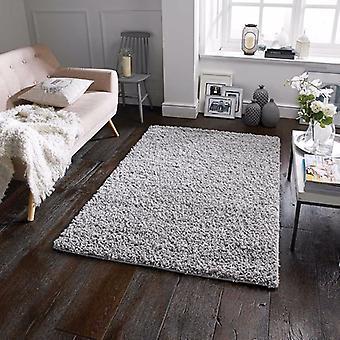 Elsa grå rektangel mattor Plain/nästan slätt mattor
