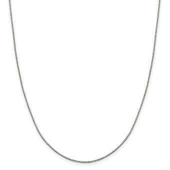 925 Sterling Silver 1.15mm 8 Side Sparkle Cut Box Chain Necklace Jewelry Gifts for Women - Length: 16 to 30