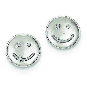 925 plata esterlina pulido post estutos sonrientes caras mini para niños o niñas Pendientes - 1.1 gramos