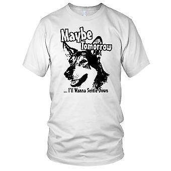 Vielleicht werde morgen ich zu begleichen Down Littlest Hobo Kinder T Shirt wollen