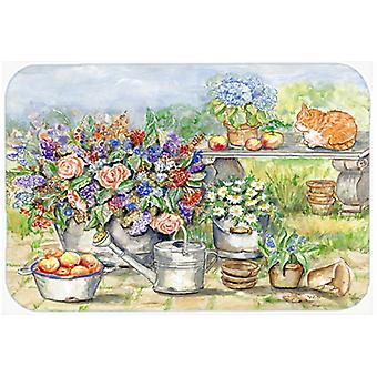 Carolines Treasures  APH3567LCB Patio Bouquet and Cat Glass Cutting Board Large