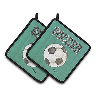 Tesoros de Carolines fútbol 8484PTHD par de agarraderas