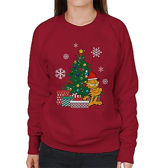 Garfield autour Sweatshirt féminines de l'arbre de Noël