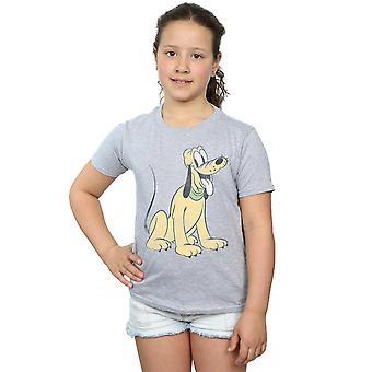 Disney Girls Pluto Sitting T-Shirt