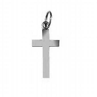 Серебряные 17x10mm равнина цельного крест
