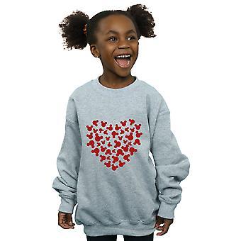 Filles de Disney Mickey Mouse coeur Silhouette Sweatshirt