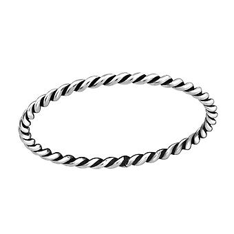 Twisted - 925 Sterling Silber Plain Ringe - W37227x