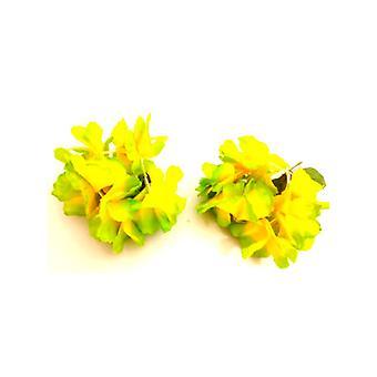 Fleur hawaïenne supérieur Bracelet/bracelet de cheville - vert