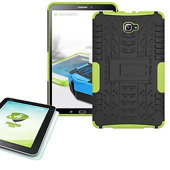 Hybrid udendørs pose grønne for Samsung Galaxy tab A 10.1 T580 + 0,4 hærdet glas
