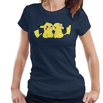 T-Shirt dla kobiet Pokemon Pikachu miłość pocałunek