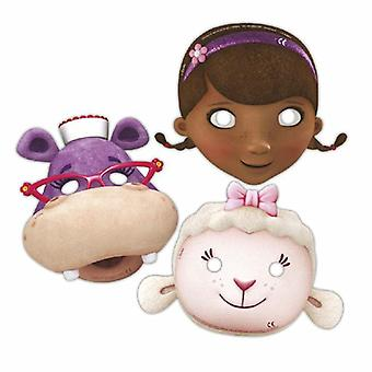 Doc McStuffins toy doctor party masks 6 piece children birthday theme party