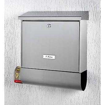 Burg Wächter 61290 BAVARIA B 1000 Letterbox Stainless steel Silver Key