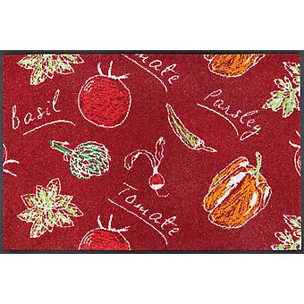 wash + dry Veggie Deluxe kitchen rug washable rug