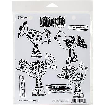 """Dyan Reaveley's Dylusions Cling Stamp Collections 8.5""""X7"""" - Put A Bird On It"""