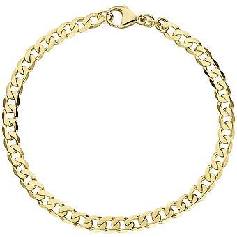 Gold shell bracelet 333 gold yellow gold gold bracelet 19 cm carabiner