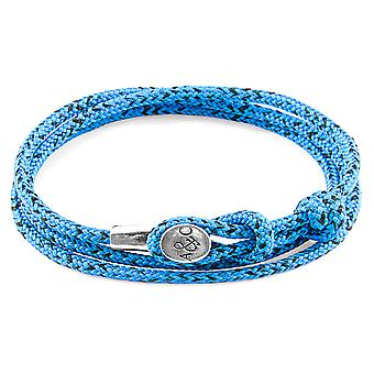 Blue Noir Dundee Silver and Rope Bracelet