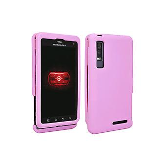 OEM Verizon Snap-On Silicone Cover Case for Motorola Droid 3 (Pink) (Bulk Packaging)