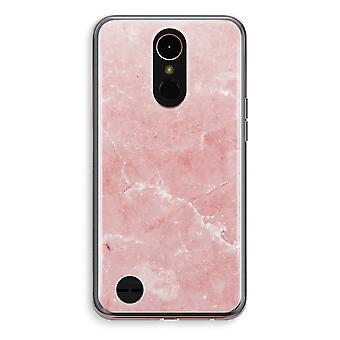 LG K10 (2018) Transparent fodral (Soft) - rosa marmor