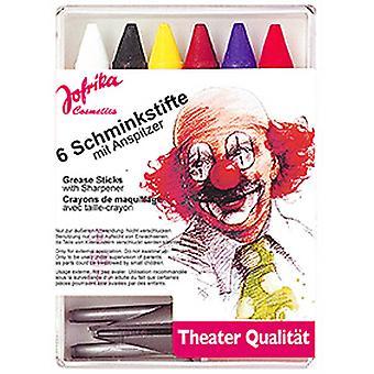 6 Schminkstifte m. Spitzer