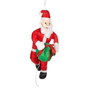 The Christmas Workshop Santa and Present Xmas Festive Decoration 90x36x17cm