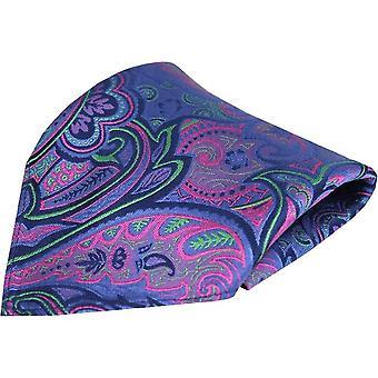 Chique en Dandy Edwardian Paisley Silk zak plein - paars/Lila