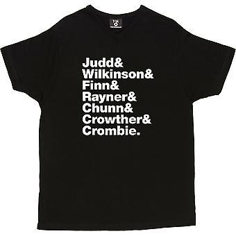 Split Enz Line-Up V-Neck Black Women's T-Shirt