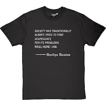 Marilyn Manson 'quot;Scapegoats'quot; Citation Charcoal Grey Men'apos;s T-Shirt