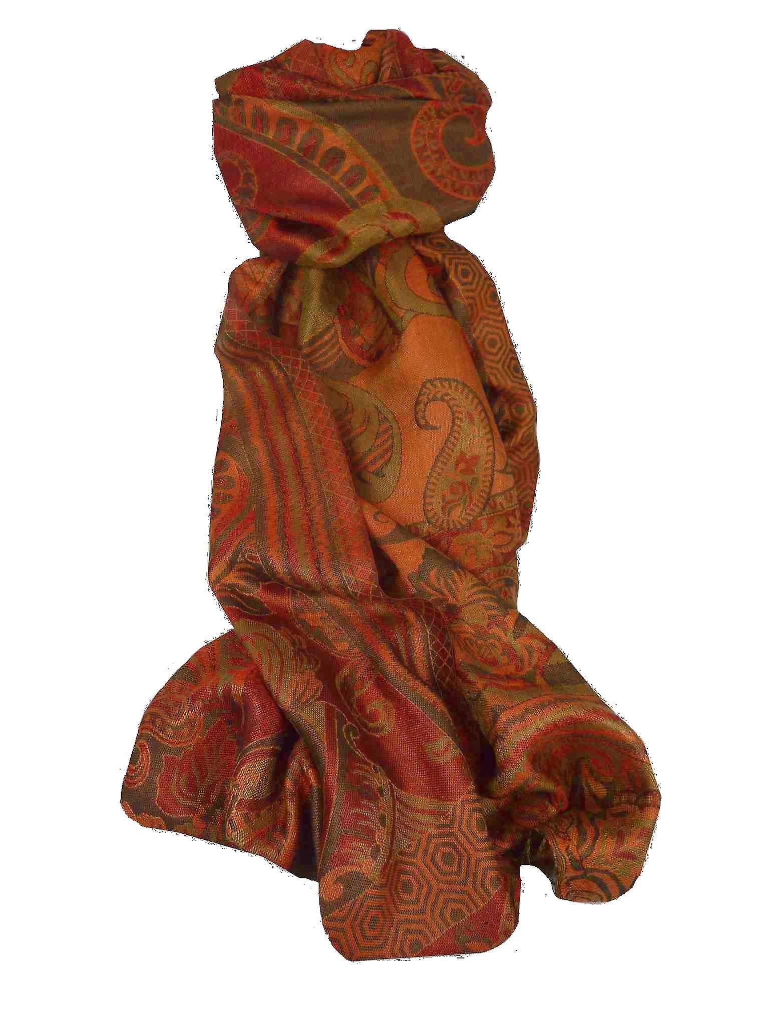 Jamawar Premium Silk Stole Pattern 3620 by Pashmina & Silk