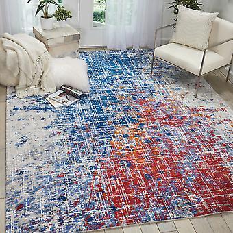 Twi25 de alfombras Nourison Crepúsculo por Nourison en rojo y azul