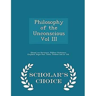 فلسفة اللاوعي المجلد الثالث العلماء اختيار الطبعة قبل فون هارتمان إدوارد آند