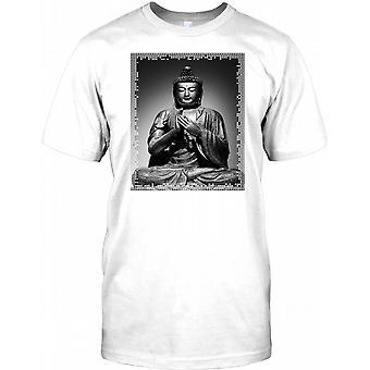 Serene Buddha Statue - Amazing DTG Print Mens T Shirt