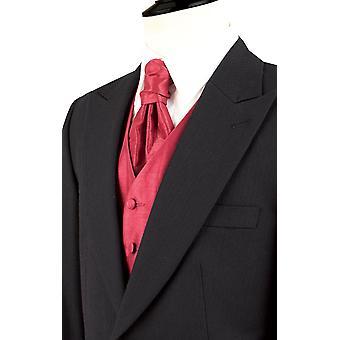 Dobell Mens Black Morning Suit Tailcoat Regular Fit 100% Wool Peak Lapel Herringbone Detail Classic Wedding Jacket