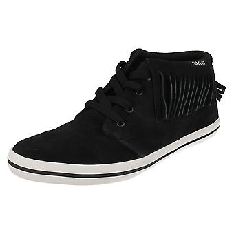 Ladies Ripcurl Fringed Lace Up Ankle Boot Tacy Mid