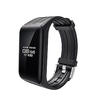 K1 activity wristband with continuous heart rate monitor-black