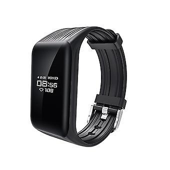 Bracelet d'activité K1 avec fréquence cardiaque continue moniteur-noir
