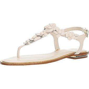 Michael Kors Womens Tricia Leather Open Toe Casual T-Strap Sandals