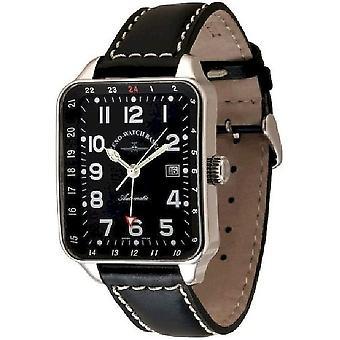 Zeno-Watch Herrenuhr SQ Pilot (Dual Time) 163GMT-a1