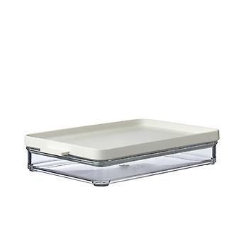 Mepal Omnia 1 Layer Meat Storage Box, Nordic White