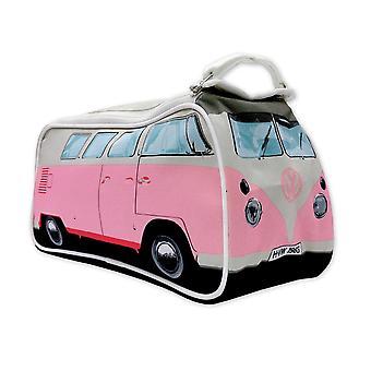 VW toaletní pytel na mytí papíru, růžový, 100% polyvak, s vnitřními komorami.